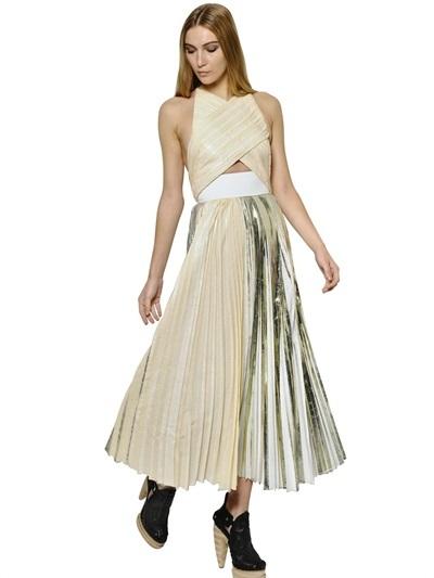 Proenza Schouler Pleated Crepe Cloqué Dress