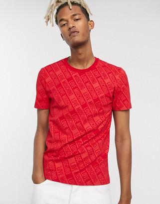 Love Moschino logo t-shirt-Red