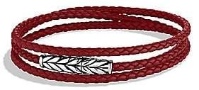 David Yurman Men's Chevron Triple-Wrap Leather Bracelet