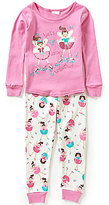 Sweet Heart Rose Little Girls 4-6X Let's Dance Printed Pajama Set