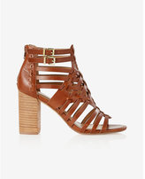 Express basketweave heeled sandal