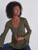 Lucky Brand Bell Sleeve Ribbed Top