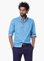 Mango Outlet Slim-Fit Chambray Cotton Shirt