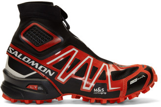 Salomon Black and Red Limited Edition Snowcross ADV LTD Sneakers