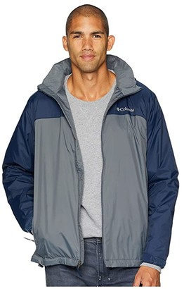 Columbia Glennaker Lake Lined Rain Jacket (Graphite/Collegiate Navy) Men's Coat