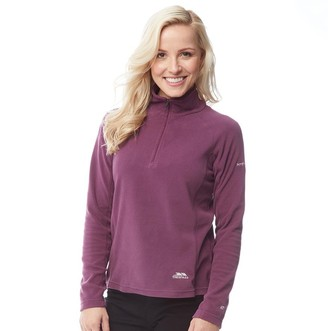 Trespass Womens Shiner 1/2 Zip Micro Fleece Blackberry
