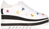 Stella McCartney Elyse embroidered flatform sneakers