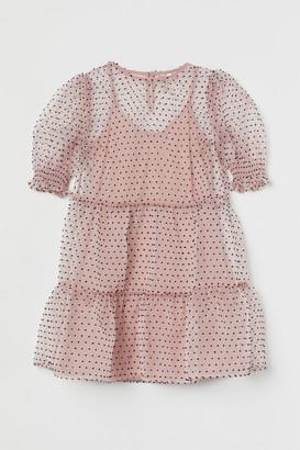H&M Short puff-sleeved dress