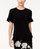 Cable & Gauge Ruffled Top