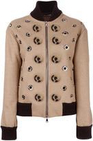 Maurizio Pecoraro disc applique bomber jacket