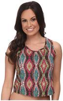 Roper 9593 Multicolor Aztec Print Crop Shirt
