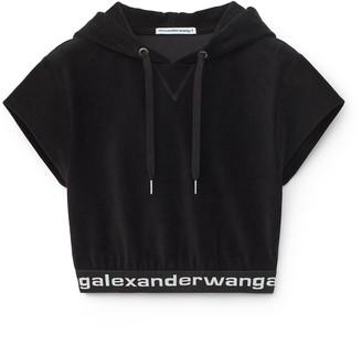 Alexander Wang Cropped Corduroy Hoodie