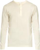 Sunspel Long-sleeved wool henley top