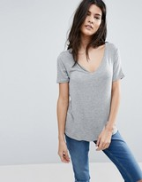 Asos The New Forever T-Shirt With Short Sleeves and Dip Back