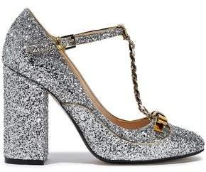 N°21 N21 Embellished Glittered Leather Mary Jane Pumps