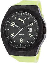 Puma PU103501010 Men's Iconic Green Rubber Black Dial Black Plastic