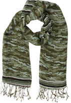 Tory Burch Multicolor Camouflage Printed Scarf