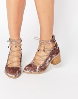 Asos OOH LA LA Ghillie Lace Up Shoes