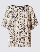 Marks and Spencer Animal Print Short Sleeve Shell Top