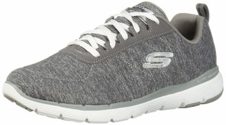 Skechers Women's Flex Appeal 3.0-INSIDERS Sneaker Grey 6H W US