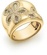 Roberto Coin 18K Yellow Gold Fantasia Diamond Daisy Ring