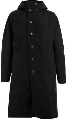 Ziggy Chen Single-Breasted Hooded Coat