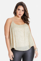 Fashion to Figure Martie Metallic Swing Tank