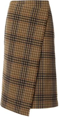 Dagmar Camel Wool Skirt for Women