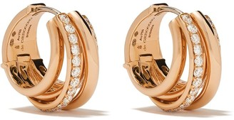 de Grisogono 18kt Rose Gold Coil Diamond Hoops