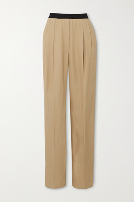 LOULOU STUDIO Takaroa Pleated Twill Straight-leg Pants - Beige