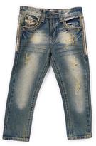 Monarchy Dark Blue & Gold Detail Worn Fashion Premium Denim Jeans