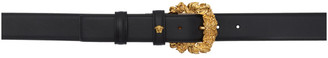 Versace Black and Gold Baroque Tribute Belt