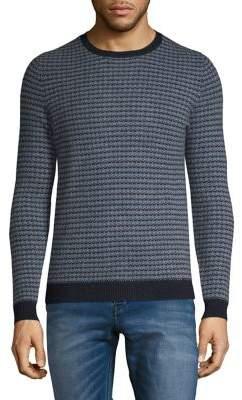 Black & Brown Black Brown Novelty Stitch Cashmere Crewneck Sweater