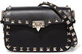 Valentino The Rockstud Micro Leather Shoulder Bag - Black