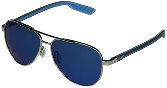 &'Costa Costa Peli (Shiny Silver/Blue Mirror Lens) Fashion Sunglasses