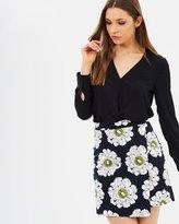 Warehouse Melody Floral Pelmet Skirt
