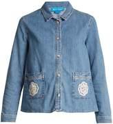 MiH Jeans Lace-appliqué denim shirt