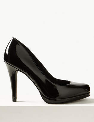 M&S CollectionMarks and Spencer Stiletto Platform Patent Court Shoes