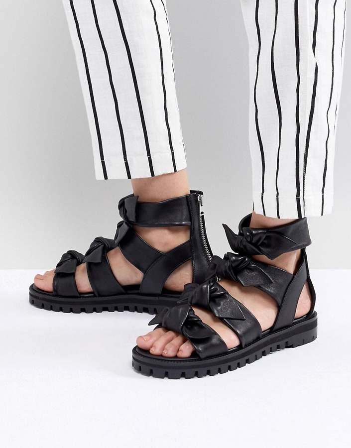 AllSaints Knot Detail Sandal