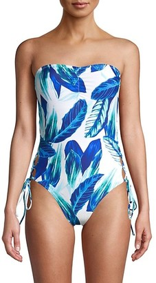 Rachel Roy Oahu Palm-Print 1-Piece Swimsuit