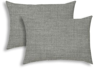 Highland Dunes Skye Outdoor Rectangular Pillow Cover and Insert Color: Gray
