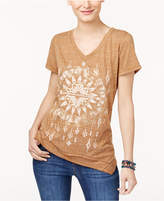 Style&Co. Style & Co Printed Handkerchief T-Shirt, Created for Macy's