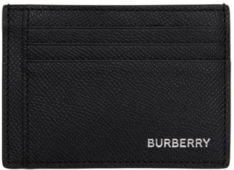 Burberry Black Money Clip Card Holder