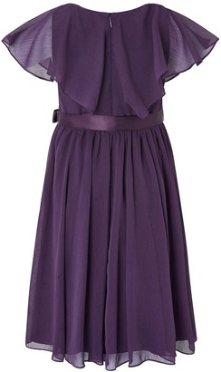 Monsoon Girls Sustainable Cape Sequin Dress - Purple