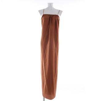Three Graces London Brown Silk Dresses