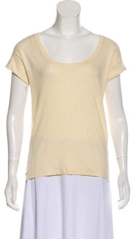 Humanoid Short Sleeve Linen T-Shirt Yellow Short Sleeve Linen T-Shirt
