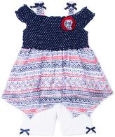 Little Lass Navy Handkerchief Top & White Shorts - Infant & Toddler