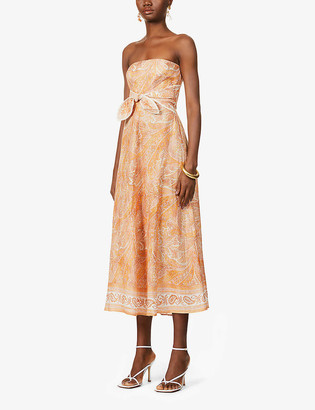 Zimmermann Brighton paisley-print linen midi dress