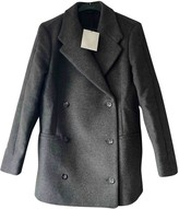 Totême Anthracite Wool Coat for Women