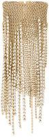 Lanvin crystal chain fringe bracelet